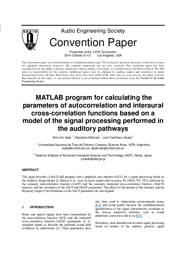 PDF) MATLAB program for calculating the parameters of