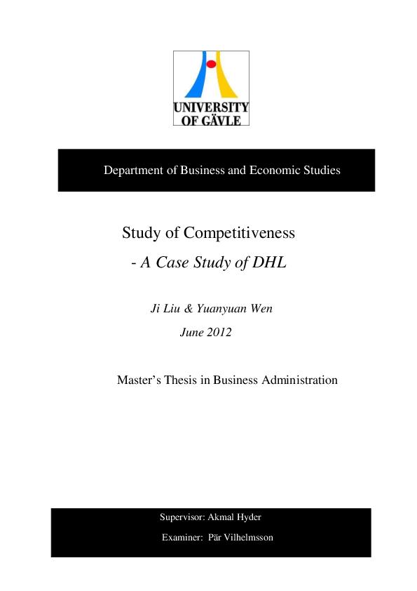 PDF) Example of DHL | Netnapit Sue - Academia edu