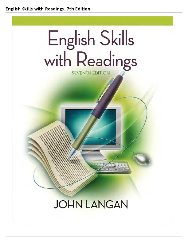 Chapter 5. 32 solutions | english skills with readings 7th edition.