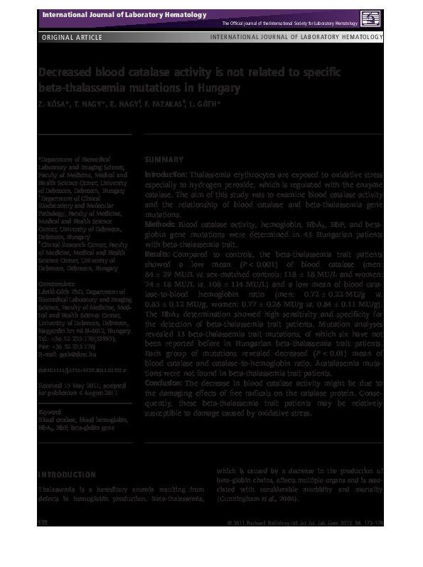 thesis on beta thalassemia