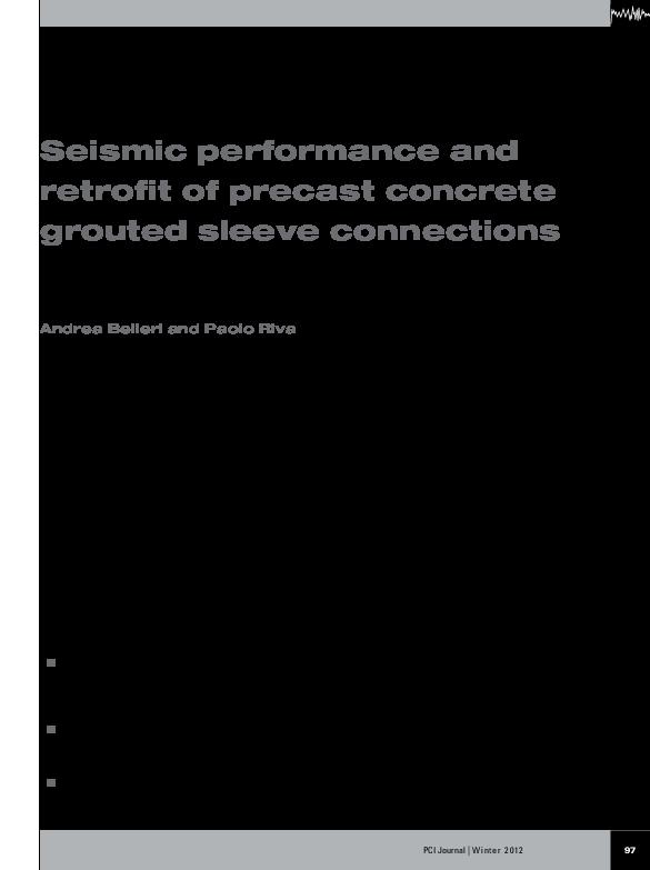 PDF) Seismic performance and retrofit of precast concrete
