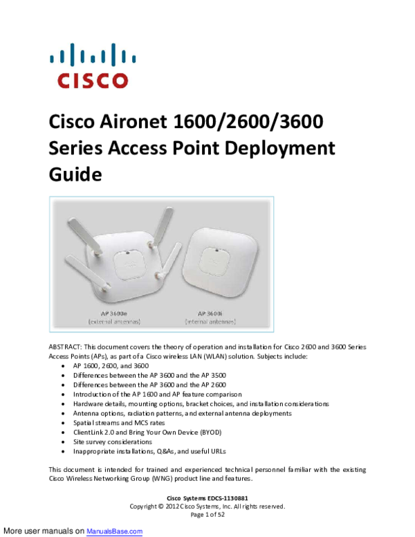 Cisco Aironet Manual