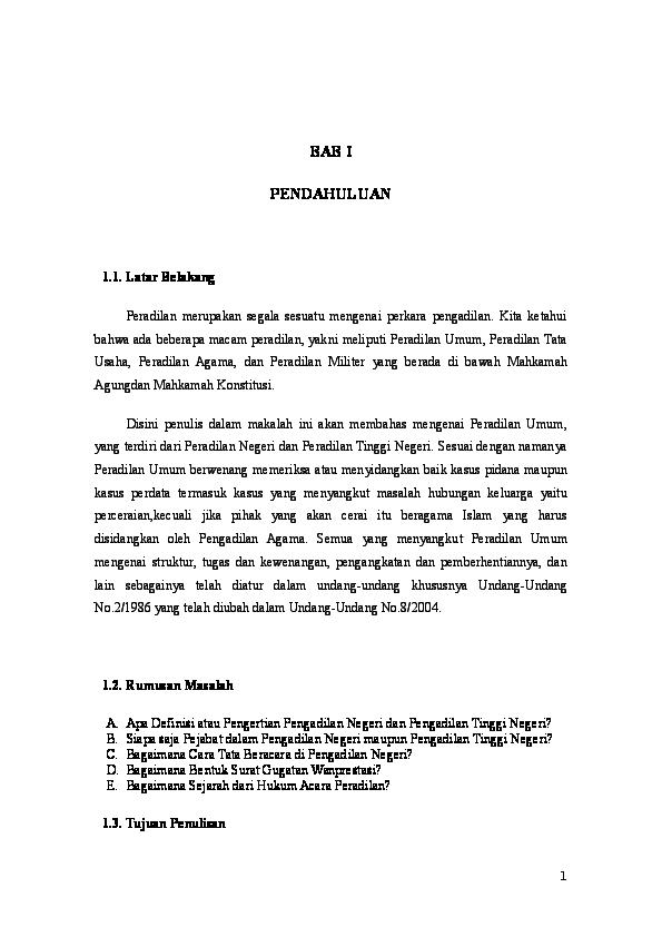 Doc Makalah Lengkap Mengenai Hukum Acara Perdata Romi Saputra Academia Edu