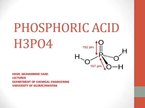 PDF) Phosphoric Acid Production | Engr Sajid Chaudhary - Academia edu