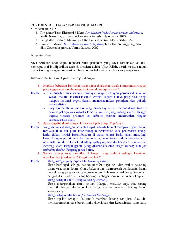 Pdf Contoh Soal Lat Uas Makro Sekar Destilawati Academia Edu