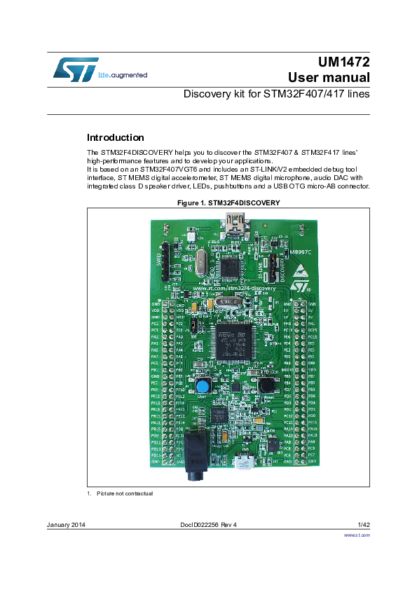 PDF) Discovery kit for STM32F407/417 lines | Ha Pham Hoang