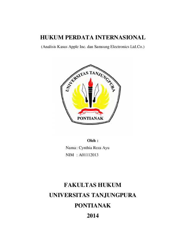 Pdf Hukum Perdata Internasional Analisis Kasus Apple Inc Dan Samsung Electronics Ltd Co Robbie Balboa Academia Edu