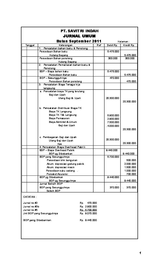 Doc Jawaban Kasus Akuntansi Biaya Enky Frezilia Academia Edu