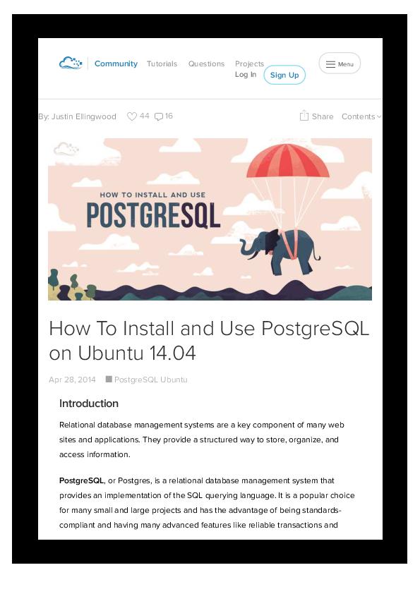 PDF) Install Use Postgre SQL on Ubuntu | Denno Guara Labukti AY