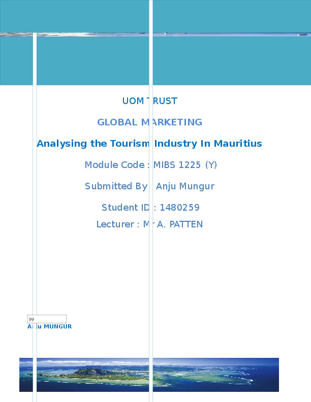 Essay on tourism industry in mauritius