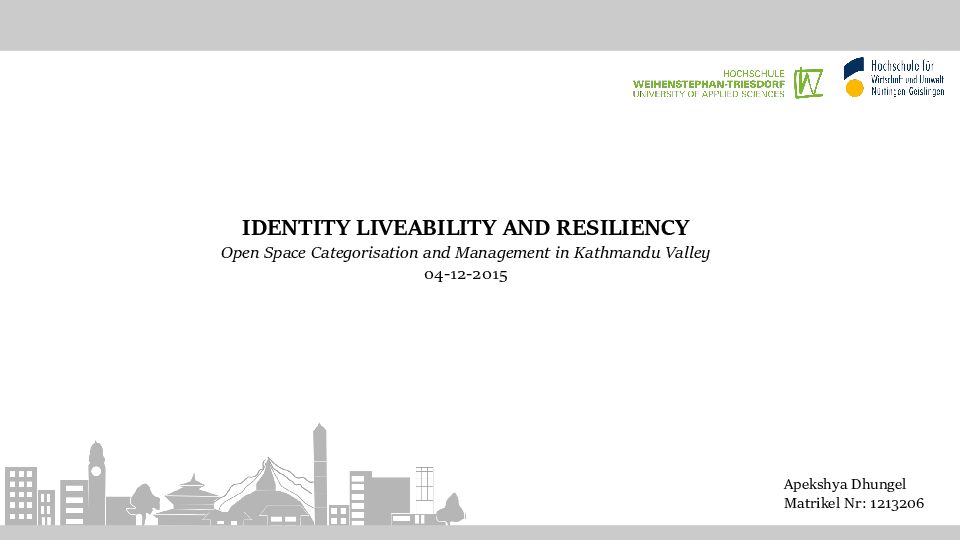 PDF) Open Space categorisation and management in Kathmandu