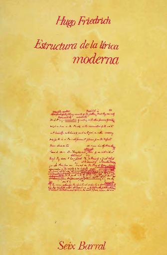 Pdf Estructura De La Lirica Moderna Hugo Friedrich Kattia