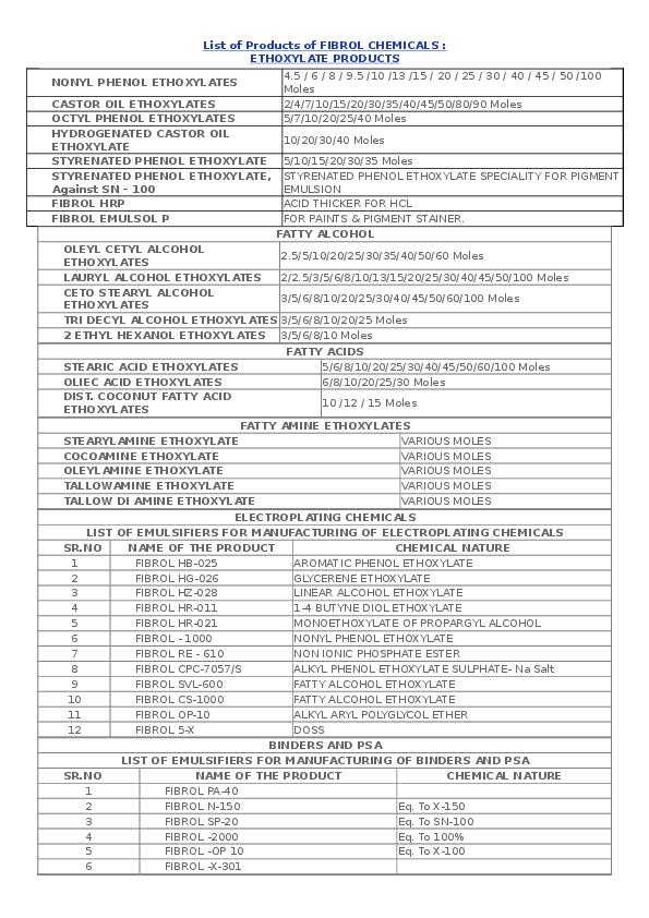 DOC) ETHOXYLATE PRODUCTS - A | KETAN SHAH - Academia edu