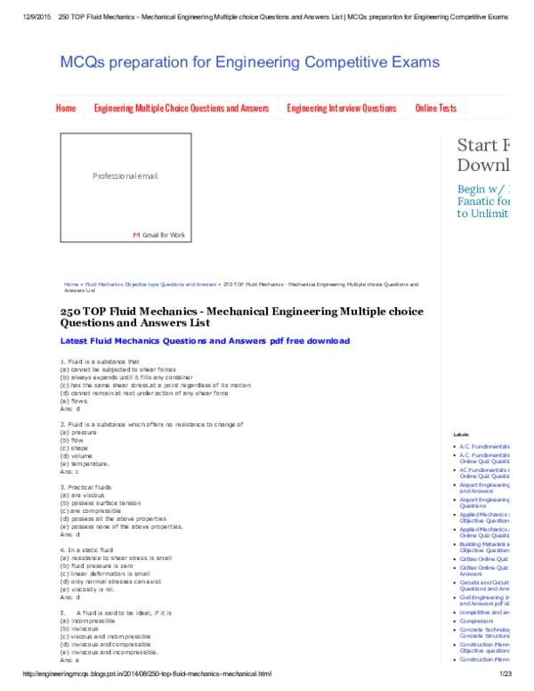 PDF) Fluid mechanics | vijay prajapati - Academia edu