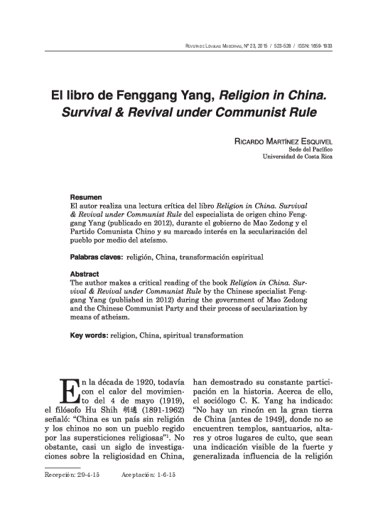 Get e-book Religion in China: Survival and Revival under Communist Rule