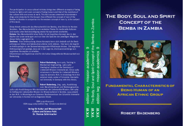 PDF) The Body, Soul and Spirit Concept of the Bemba in