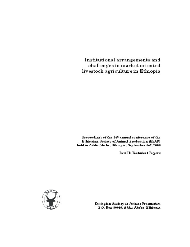 PDF) Gender Based Analysis of Livestock Production Systems