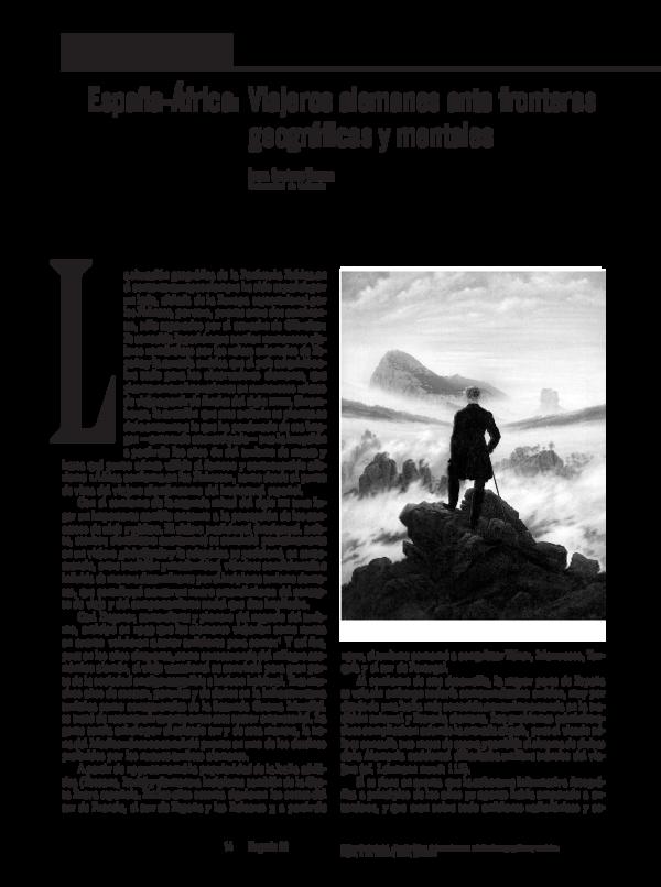 Pdf Espana Africa Viajeros Alemanes Ante Fronteras Geograficas Y Mentales Isabel Gutierrez Koester Academia Edu