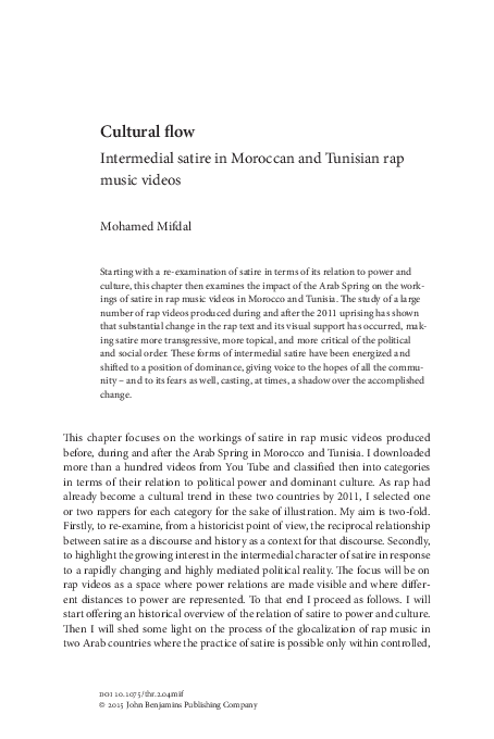 Pdf Book Chapter The Power Of Satire Intermedial Satire In