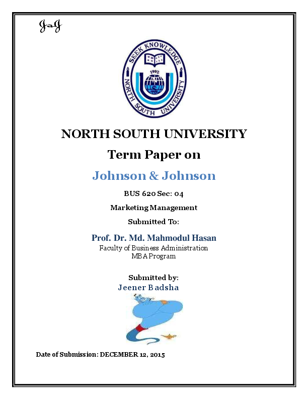 Management term papers