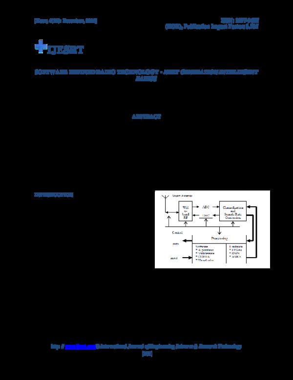 PDF) Software Defined Radio Technology - Next Generation