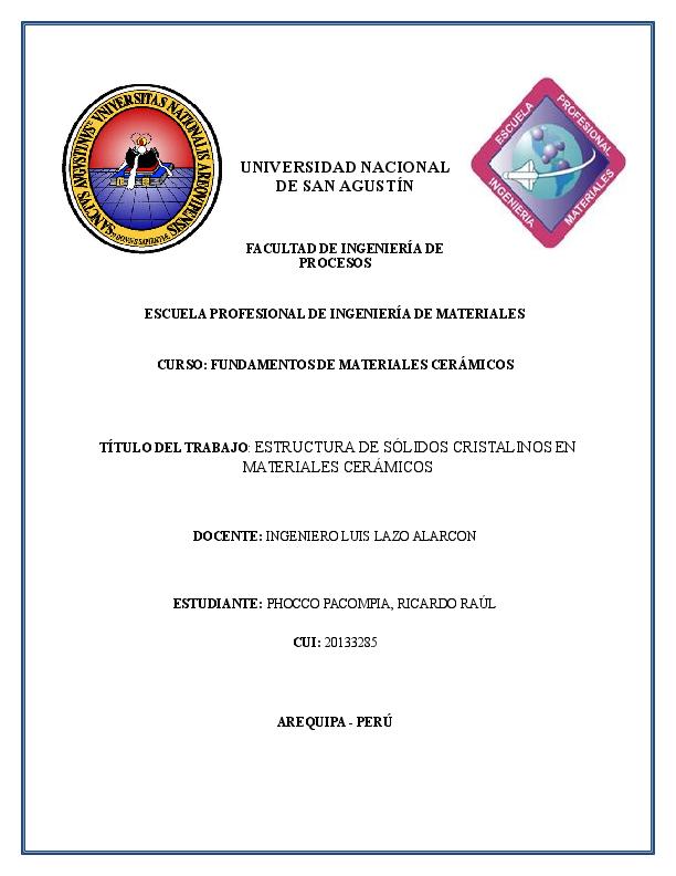 Doc Estructura De Solidos Cristalinos En Materiales
