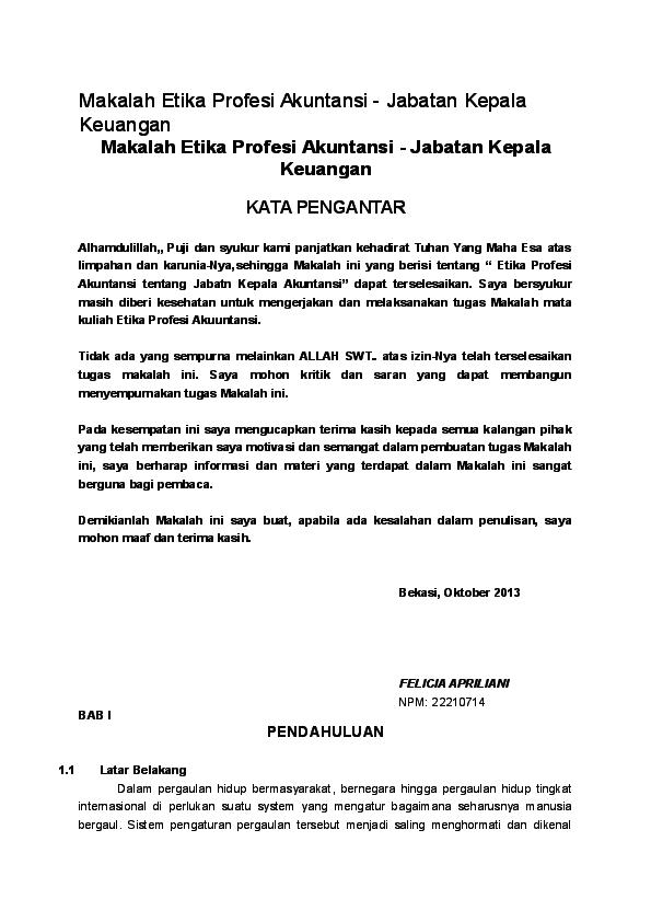 Doc Makalah Etika Profesi Akuntansi Whywit Juwita Academia Edu