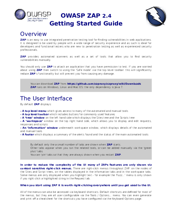 PDF) ZAPGetting Started Guide 2 4   frank robert benitez