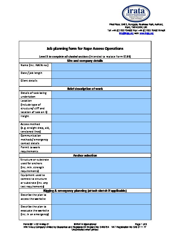 061 Job Planning form 2 | Raúl Manzano - Academia edu