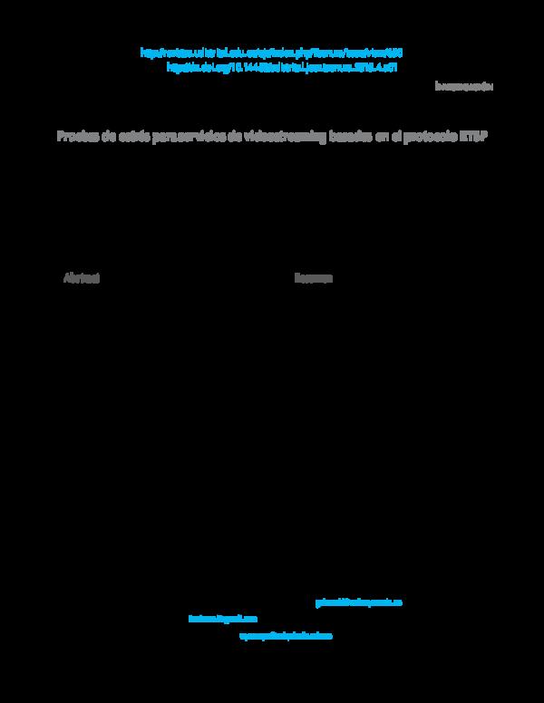 PDF) Pruebas de estrés para servicios de videostreaming
