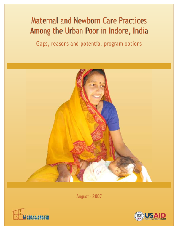 PDF) Maternal and Newborn Care Practices Among the Urban Poor in