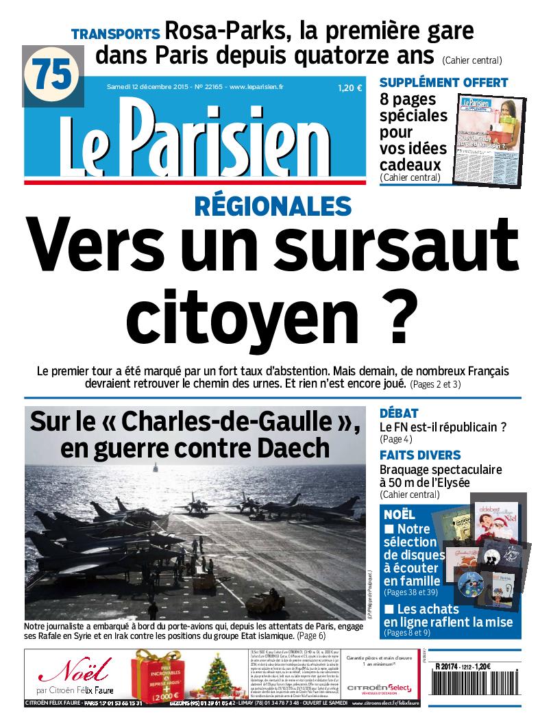 low priced offer discounts wholesale PDF) Le Parisien + Journal de Paris du samedi 12 décembre 2015 ...