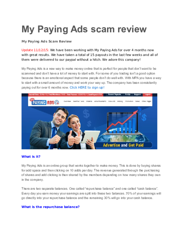 DOC) My Paying Ads scam review   Bassam Jamal - Academia edu