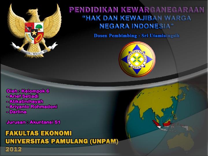Hak Dan Kewajiban Warga Negara Indonesia Atik Atinihayah