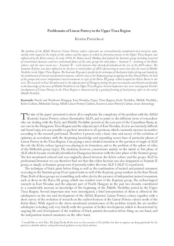 PDF) PANTA RHEI  Studies on the Chronology and Cultural