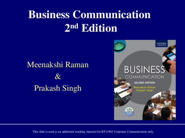 PDF) Business Communication 2nd Edition | Khoiriah Ahmad - Academia edu