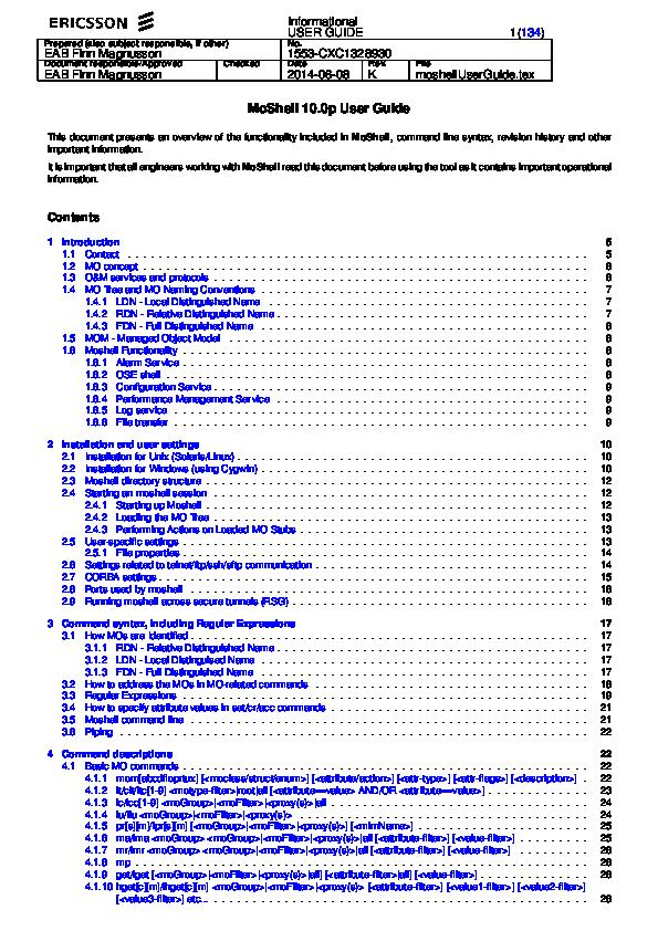 PDF) Moshell Users Guide | Cas Helder - Academia edu