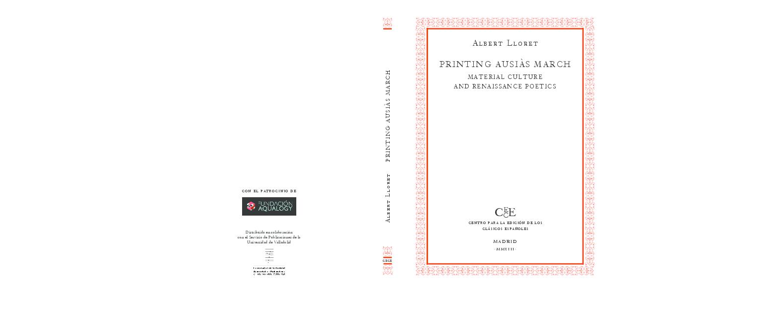 PDF) Printing Ausiàs March: Material Culture and Renaissance