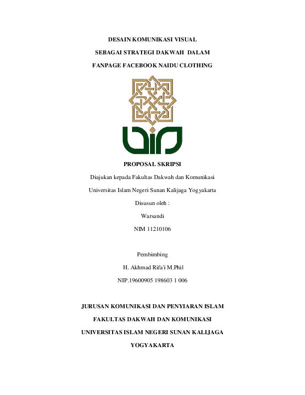 Contoh Proposal Skripsi Komunikasi Penyiaran Islam Pdf Berbagi Contoh Proposal