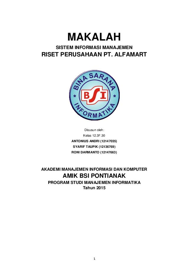 Pdf Makalah Sistem Informasi Manajemen Roni Darmanto Academia Edu
