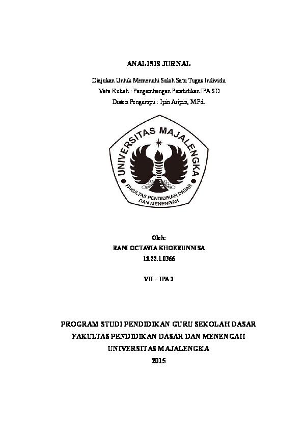 Doc Tugas Analisis Jurnal Rani Octavia Khoerunnisa Academia Edu