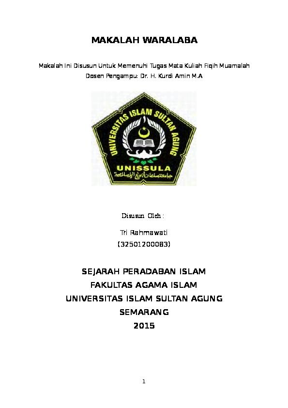 Doc Makalah Waralaba Tri Rahmawati Academia Edu