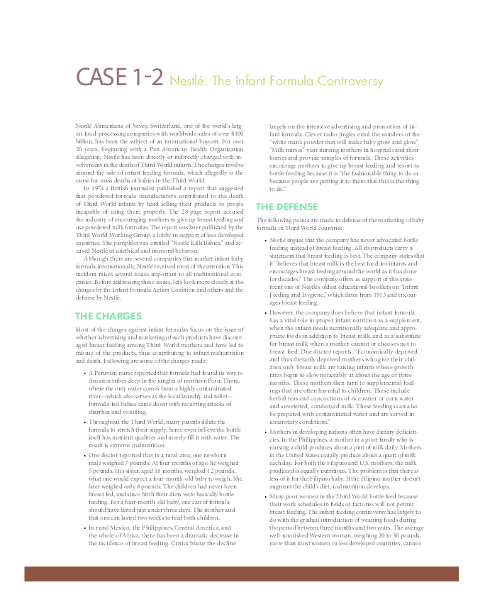 PDF) Case 1 2 Nestle The Infant Formula Controversy | Ngân