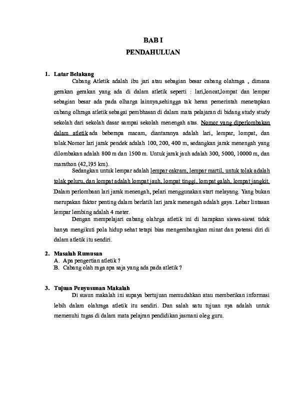 Doc Makalah Atletik Udin Jamal 28 Academia Edu