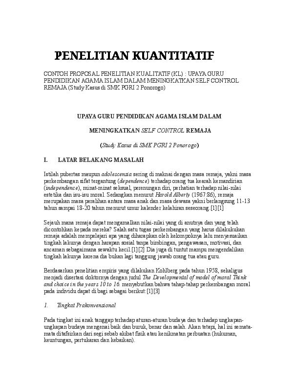 Doc Penelitian Kuantitatif 7 Raihan Thoshil Academia Edu