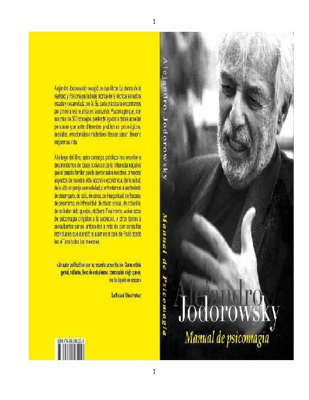 Pdf Manual De Psicomagía Alejandro Jodorowsky Lhulhu Hé Academia Edu