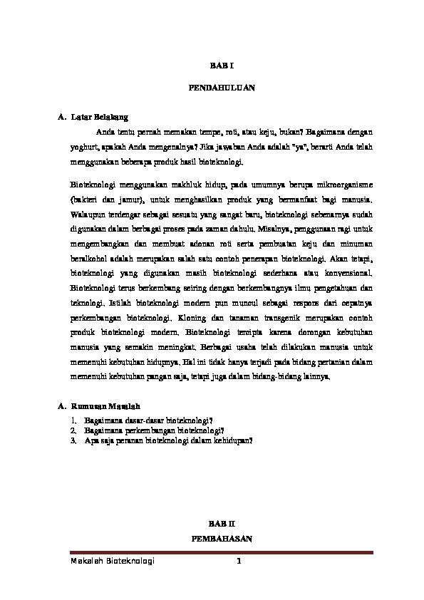 Doc Makalah Bioteknologi Hamdan Haris Academia Edu