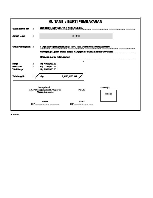 Format Kwitansi Berbentuk Excel 2007 Reza Al Fajri Ar
