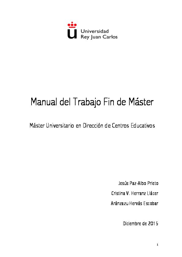 Manual Del Trabajo Fin De Máster Cristina V Herranz Llácer Jesús
