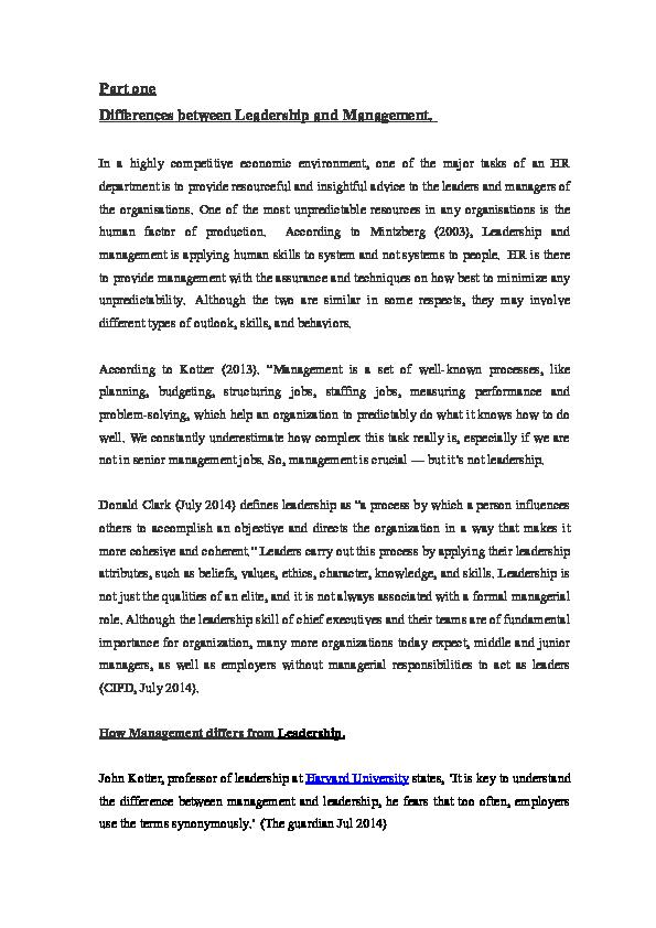 DOC) Management Vs Leadership | Arnold Chiy - Academia edu
